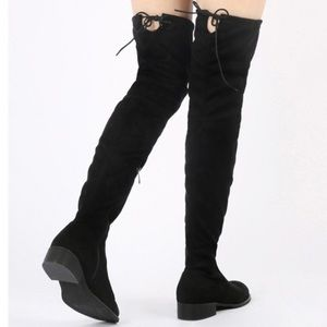 Public Desire thigh high suede boots